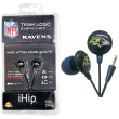 iHip NFL Team Logo Earphones - Baltimore Ravens