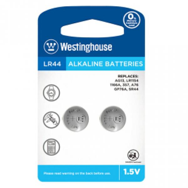 1.5V LR44 Batteries - 2 Pack