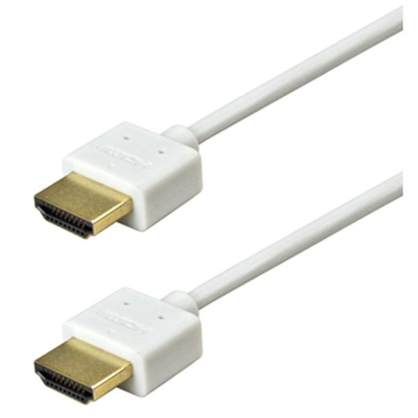 1.5' Ultra-Slim v1.4 High-Speed HDMI Cable with Ethernet - White