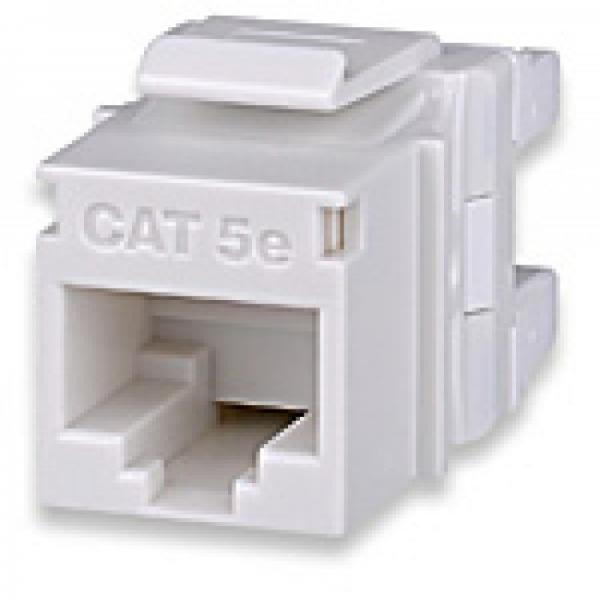 CAT5e RJ45 110 Keystone Jack - T568A/B - White - Signamax - Click Image to Close