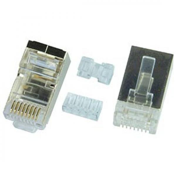 10 Pack of CAT6 RJ45 Shielded Connectors w/ Two Inserts
