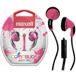 Maxell ColorBuds w/ Microphone - Pink
