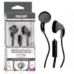 Maxell ColorBuds w/ Microphone - Silver