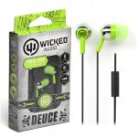 "Wicked Audio ""Deuce"" Earbuds w/ Microphone - Green"
