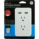 GE Wall Tap Surge Protector - 2 Outlets, 2 USB Charging Ports, 450 Joules