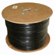 1000ft Solid Shielded F/UTP CAT6 Network Cable - Outdoor Direct Burial - Black