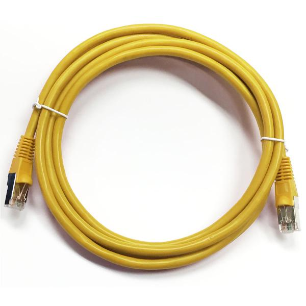 0.5' CAT5e (350 MHz) STP Shielded Network Cable - Yellow
