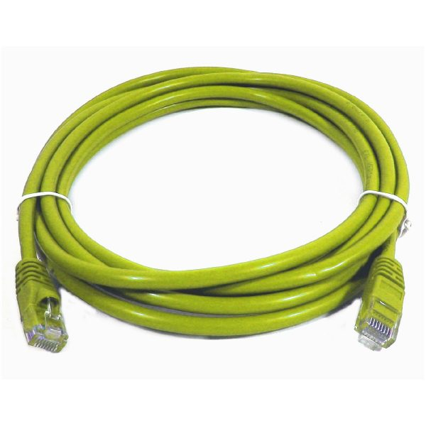 1' TechCraft CAT5e (350 MHz) UTP Network Cable - Yellow